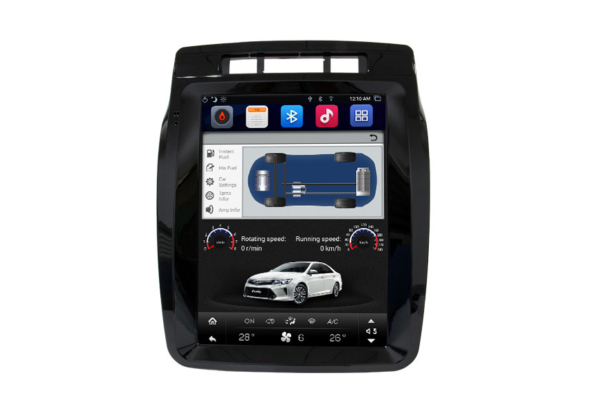 10.4 Inch Volkswagen Navigation System Supporting Wifi / 3G / 4G / Mobile Hotspot