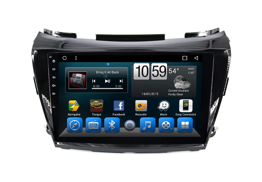 Integrated Car GPS Navigation System 2 Din Android Auto Radio With DVD Player